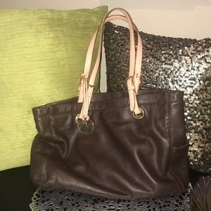 Michael Kors soft brown leather tote w/ tag